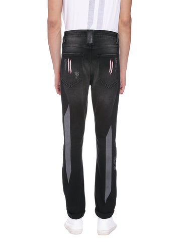 ATTIITUDE BLACK DENIM BIKER JEANS