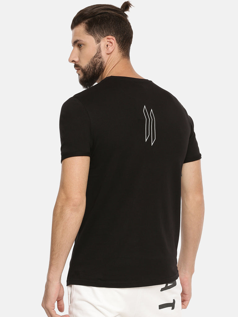 Black T-Shirt With Big Doluble I Logo