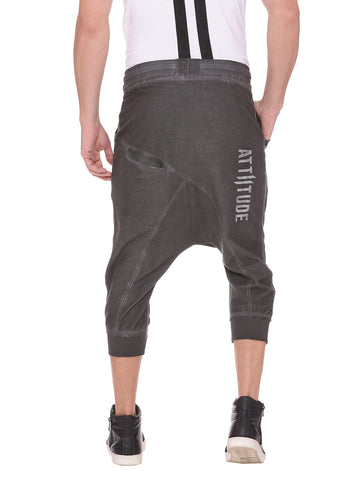 Attiitude Dark Grey Short Joggers