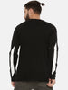Non Pvc Matte Print Full Sleeve Black T-Shirt