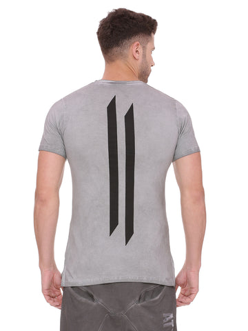 Attiitude Dark Grey Regular Hem T Shirt with CPD Treatment