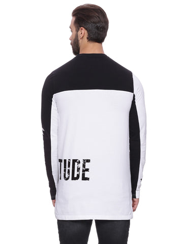 ATTIITUDE panelled t-shirt with white flock print