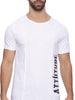 Attiitude Raw Edge Panel White T-shirt