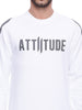 ATTIITUDE WHITE SUEDE PATCH SWEATSHIRTS