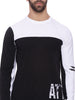 ATTIITUDE panelled t shirt with black flock print - Full Sleeve