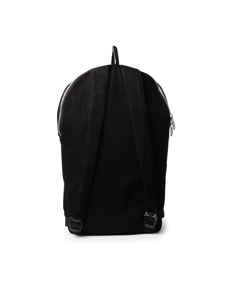 ATTIITUDE BLACK DENIM BAG WITH BRAND LOGO