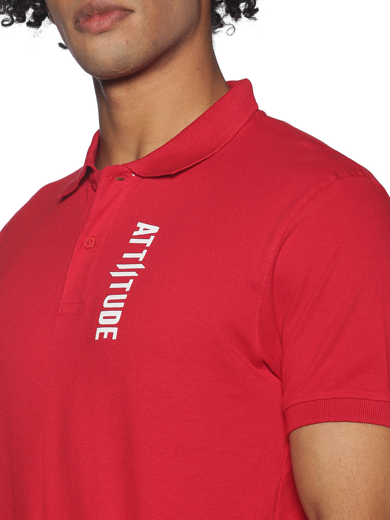 ADMIRE-MEN'S HALF SLEEVE POLO T-SHIRT-RED