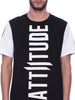 Attiitude Crew neck T shirt with white sleeve