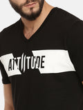 Black T-Shirt With Brand Logo Print On Chest