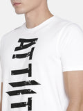 CHRIS GAYLE SIGNATURE COLLECTION WHITE T-SHIRT WITH BRAND LOGO FLOK PRINT AND BLACK MASK