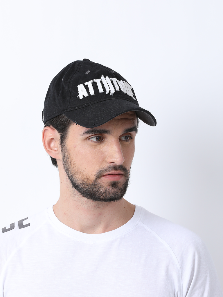 ATTIITUDE PRINTED RAW-APLIQUE DADS CAP