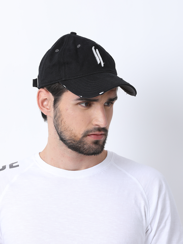 ATTIITUDE LOGO PRINTED RAW-APPLIQUE DADS CAP