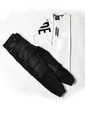 ATTIITUDE WHITE BOXY FIT T-SHIRT + ATTIITUDE MEN'S BLACK DENIM