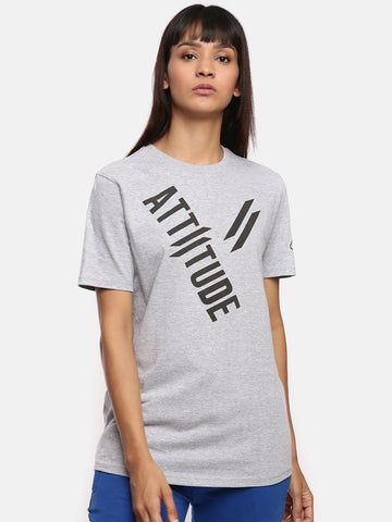 Attiitude Typography Men's Ribbed Neck T-Shirt