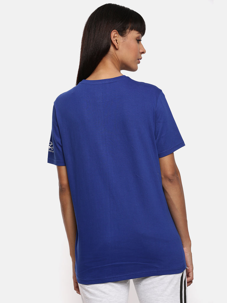 Unisex Half Sleeve Round Neck Dark Blue T-shirt