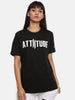 Unisex Half Sleeve Round Neck Black T-shirt