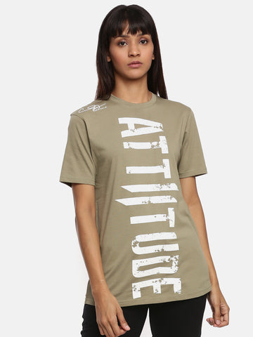 Unisex Half Sleeve Round Neck Green T-shirt