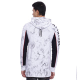 Attiitude White Hoodies With Black Spray Treatment