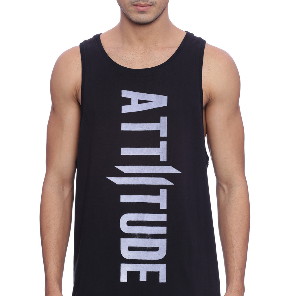 Attiitude Black Tank Top