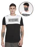 CHRIS GAYLE SIGNATURE COLLECTION WHITE & BLACK T-SHIRT WITH HD PRINT AND GREY MASK