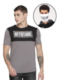 CHRIS GAYLE SIGNATURE COLLECTION BLACK & GREY T-SHIRT WITH HD PRINT AND WHITE MASK