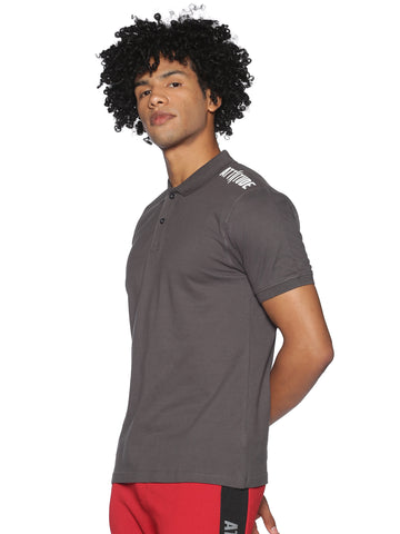 AZORA-MEN'S HALF SLEEVE POLO T-SHIRT-Army green