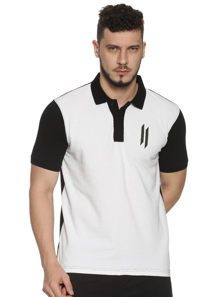 Men Polo Collar Short Sleeve Multi color T-shirt