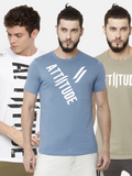 ATTIITUDE- Men Pack of 3 Round Neck T-shirts