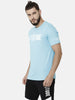 Attiitude Brand Logo Printed T-Shirt  Light Blue
