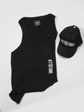 ATTIITUDE BLACK VEST WITH SILICON SOFTNER WASH AND CAP