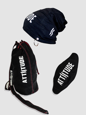 Combo 3(Denim Duffle Bag, Mask & Beanie)