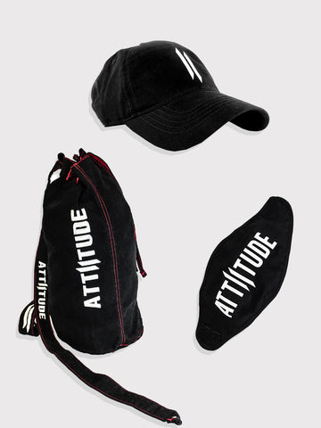 Combo 8(Demin Duffle Bag, Mask & Polo Cap)