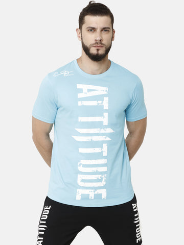 Attiitude Pigment Print Full Sleeve Light Grey T-Shirt