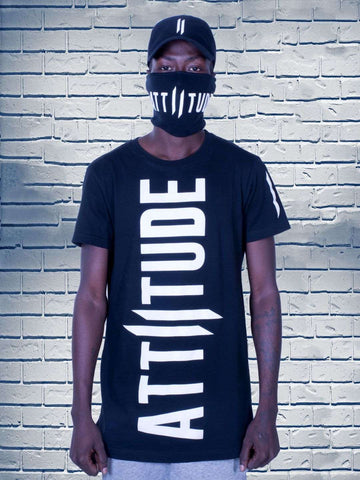 Combo 24(ATTIITUDE BLACK T-SHIRT + Mask + Polo Cap)