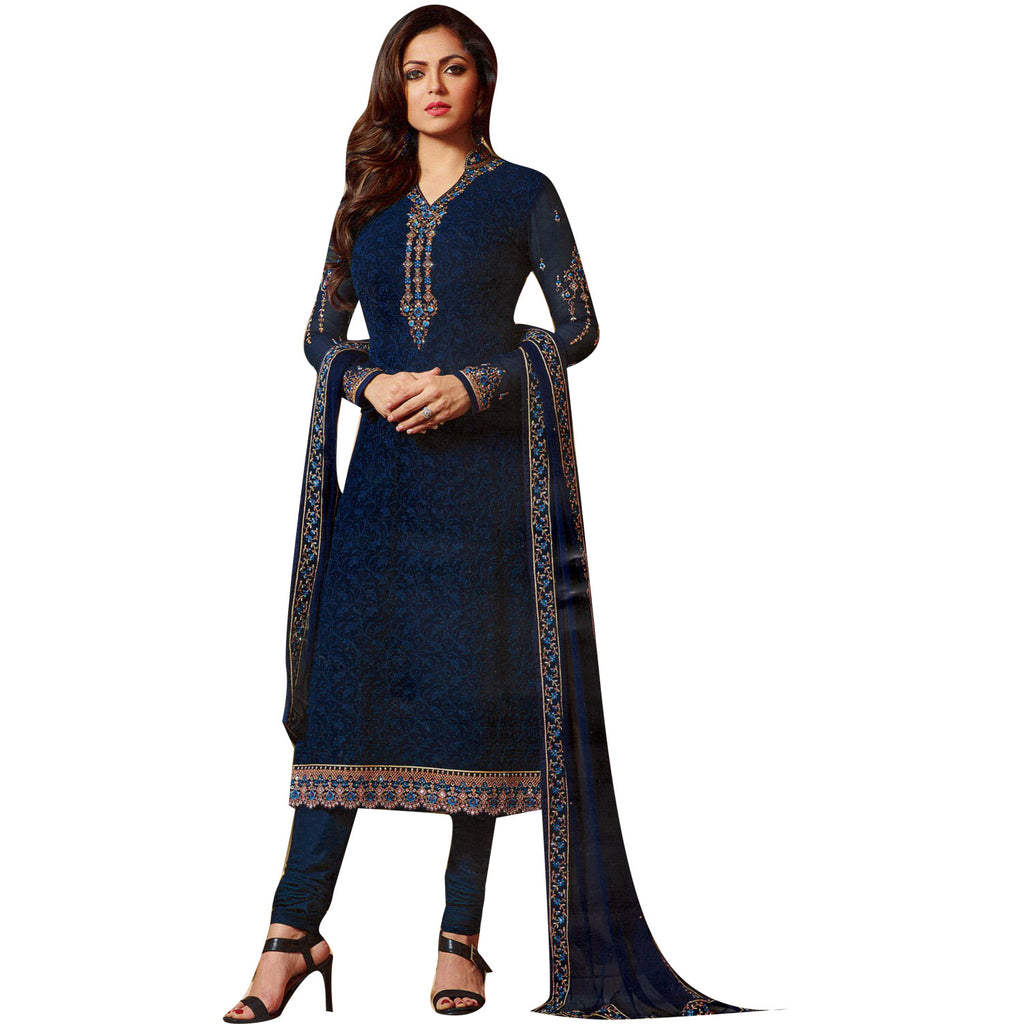 13aa87c236 Ladyline Ready to wear Designer Partywear Salwar Kameez Chiffon Embroidered  Stitched Salwar suit Indian Pakistani