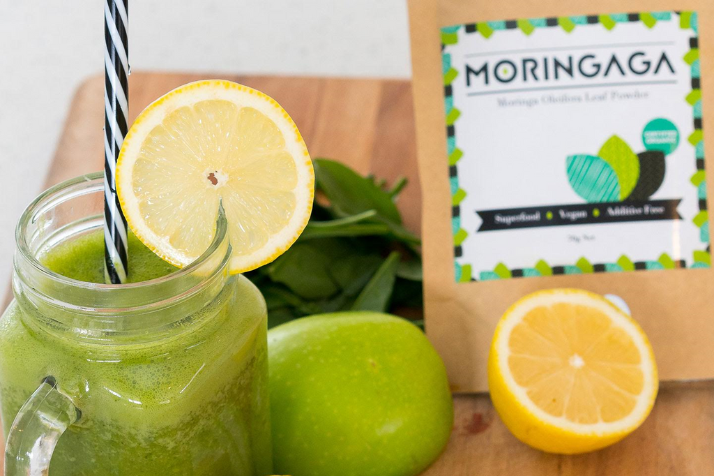 Moringa, Spinach and Apple Juice