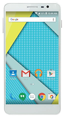 "Plum 6"" Unlocked Smart Cell Phone Android 4G GSM USA Worldwide QuadCore Dual Camera US Warranty -White - Beast Communications LLC"
