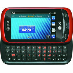 LG Xpression C395 - Red Black AT&T CRICKET H20 GSM 3G Qwerty Touch Cell Phone