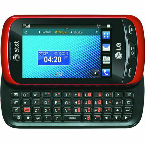 LG Xpression C395 - Red Slider AT&T CRICKET H20 GSM 3G Qwerty Touch Cell Phone - Beast Communications LLC