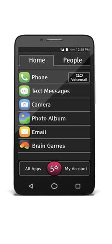 "New Jitterbug Smart Easy-to-Use 5.5"" Smartphone for Seniors GreatCall - Beast Communications LLC"
