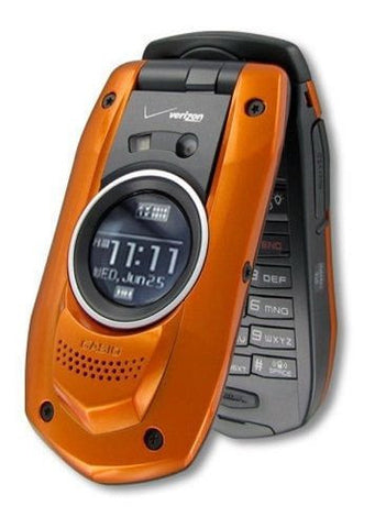 New Casio C711 Verizon Orange G'zOne Boulder Basic Cell Phone Rugged No Contract - Beast Communications LLC