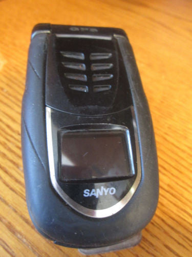 Sanyo SCP 7050 Sprint Speakerphone PTT Black  Very Good