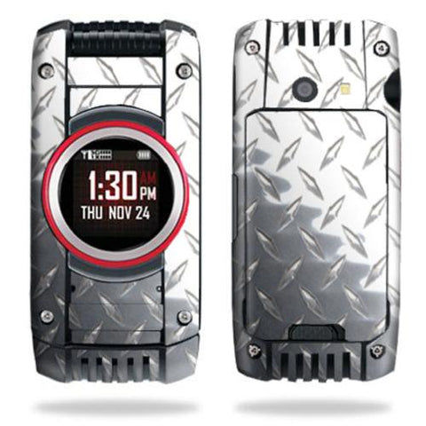 Skin Decal Wrap for Casio G'zOne Ravine 2 C781 B GzOne Diamond Plate