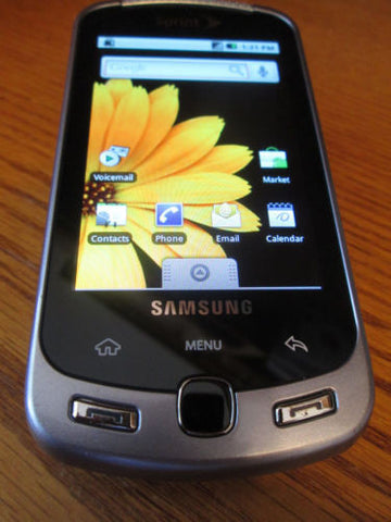 Samsung M900 Moment Sprint Smartphone Camera Touch QWERTY Wi Fi Near Mint - Beast Communications LLC