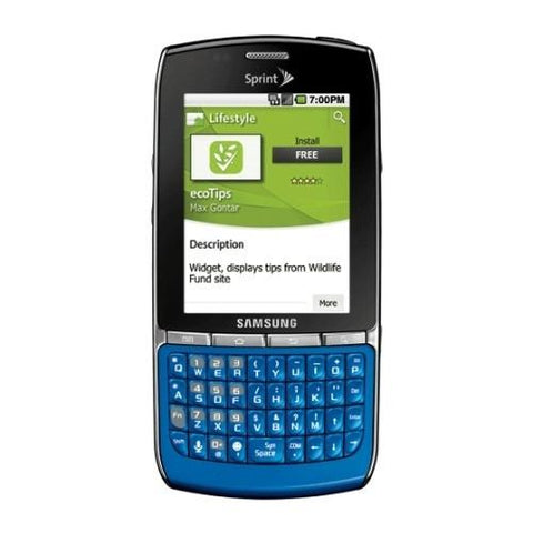Samsung Replenish M580 Android Blue/Silver - Sprint