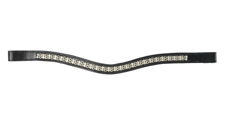 HY Class Diamante Curved chain Browband Black Full