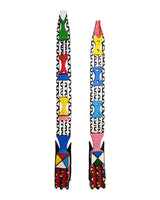 West African Hand Carved Vintage Revived Long Painted Festive Masks from Burkina Faso W20cm x H200cm - Mask Wall D�cor - House of Avana
