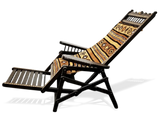 Handmade Recliner with bronze inlay on wood from Mali