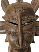 Senoufu Passport Mask With Kalao On Head - Décor Masks Wall Decor