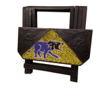 Wooden handmade Ghanian folding portable end table